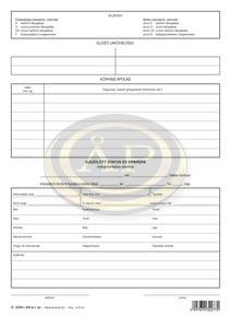 Gyermekegészségügyi törzslap szabadlap A/4 álló C.3341-24/A