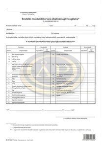 Beutaló munkaköri alkalmassági vizsgálatra szabadlap A/4 álló, A.3510-217