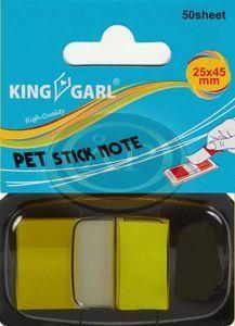 Jelölő címke sárga 25x45mm 50 lap