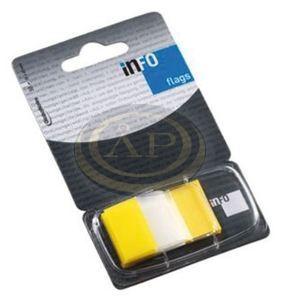 Jelölő címke átlátszó sárga 25x43mm 50 lap