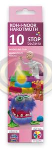 KOH-I-NOOR színes gyurma, 10 színű, 200gr, antibakteriális