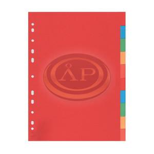 Elválasztó lap műanyag 10részes színes