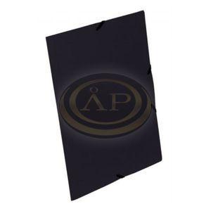 StarOffice Gumis mappa A/4, 15 mm-es gerinc színes fekete<br />