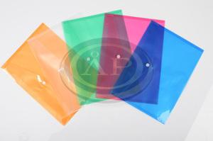 Irattartó tasak P+P A5, patentos, műanyag, NARANCS