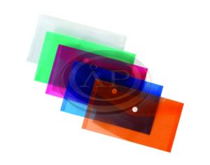 Irattartó tasak P+P DL (LA4/csekk), patentos, műanyag, áttetsző,