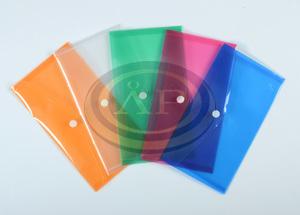 Irattartó tasak P+P DL (LA4/csekk), patentos, műanyag, PIROS