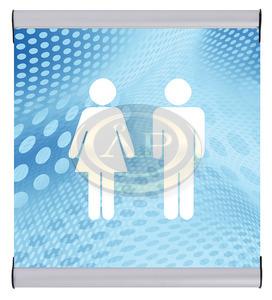 Irányító- és ajtótábla alumínium profil 200x200mm Jansen Display