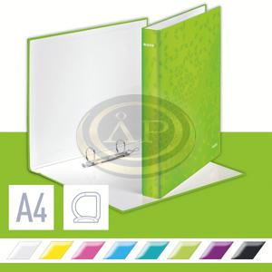 Leitz WOW karton gyűrűskönyv, 2 gyűrű, zöld (42410064 helyettesítője) 42410054