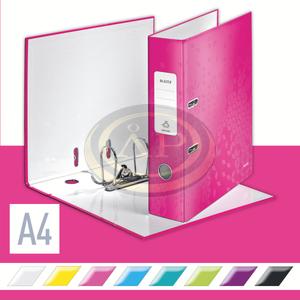 Iratrendező Leitz lakkfényű 180 fokos, 85mm, rózsaszín 10050023