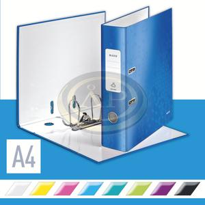 Iratrendező Leitz lakkfényű 180 fokos, 85mm, kék 10050036