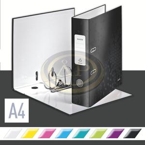 Leitz WOW karton 180° iratrendező, 80mm, fekete 10050095
