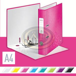 Iratrendező Leitz lakkfényű 180 fokos, 50mm, rózsaszín 10060023