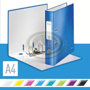 Iratrendező Leitz lakkfényű 180 fokos, 50mm, kék 10060036