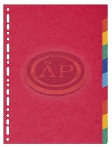 Elválasztólapok A4, színes karton, 10 részes
