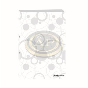 P+P Black&White gyűrűskönyv,A4,fehér,2gyűrűs
