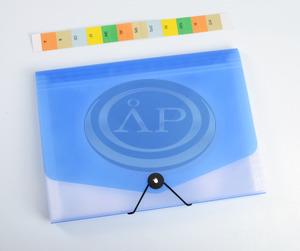Harmonika mappa P+P, A4 13 rekeszes, gumiszalagos, vegyes színekben