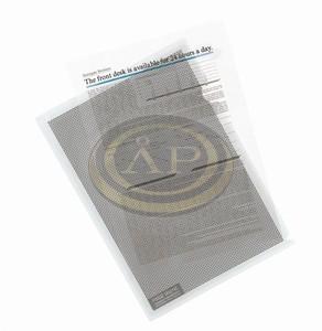 Genotherm adatvédelmi, PP, A4, Camouflage, víztiszta, 5db/csom