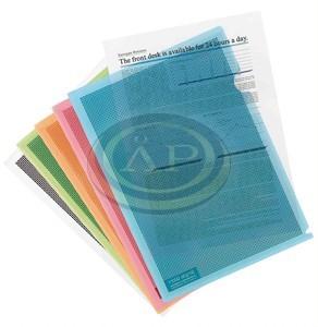 Genotherm adatvédelmi, PP, A4, Camouflage, vegyes színek, 5db/csom