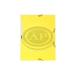Gumis mappa EXACOMPTA prespán A/4 citromsárga 55529E