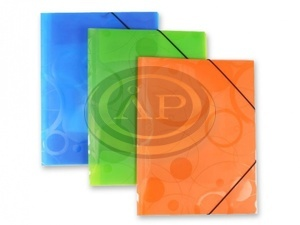 P+P Neo Colori gumis mappa,A4,narancssárga