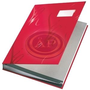 Aláírókönyv Leitz A4 18 részes piros 57450025