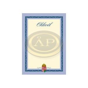 Oklevél pd A/4 álló címeres III.
