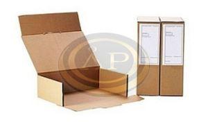 Levéltári archiváló doboz 'semleges kémhatású' A4 'Kimetszett' belméret:375x250x115mm (325B2FK)