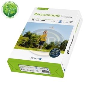 Fénymásolópapír környezetbarát Recyconomic Classic White A/4 80gr. 500 ív/csomag