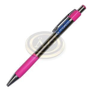 Golyóstoll PAX eASY '333 UF' acél test, pink fogo, kék írás, 0,3mm