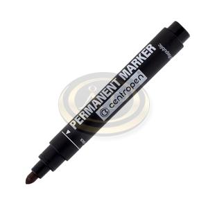Alkoholos permanent marker Centropen 8566 fekete, kerek hegyű