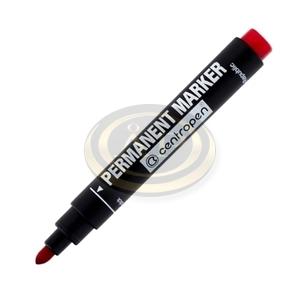 Alkoholos permanent marker Centropen 8566 piros, kerek hegyű