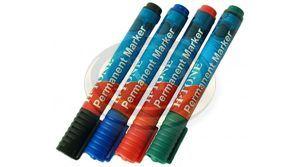 Alkoholos filctoll piros 1,5-3mm vastag, kerek hegyű
