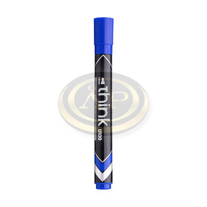 Deli Think Alkoholos permanent marker kék, kerek hegyű, 2mm