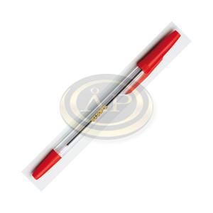 Golyóstoll Sakota eldobható, kupakos piros 0,5mm