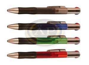 Golyóstoll Sakota 4színű műa.áttetsző, gumifogós tolltest