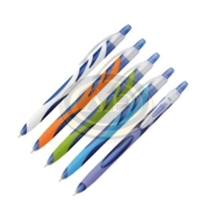 Golyóstoll Sakota Blue Wawe, nyomógombos, műanyag, 0,5mm