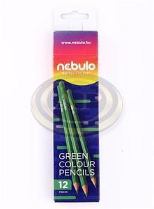 Színes ceruza Nebulo zöld, háromszögletű