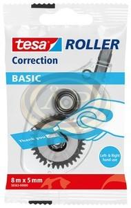 Tesa hibajavító roller 5mmx8m, eldobható, Jobb-és balkezeseknek egyaránt