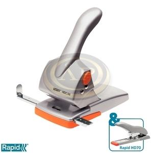 Lyukasztó Rapid HDC65 Supreme ezüst/narancs max. 65 laphoz 20922603