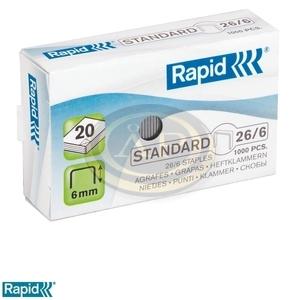 Tűzőkapocs Rapid 26/6 horganyzott 1000db/doboz 24861300