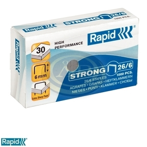 Tűzőkapocs Rapid 26/6 Strong horganyzott 1000db/doboz 24861400