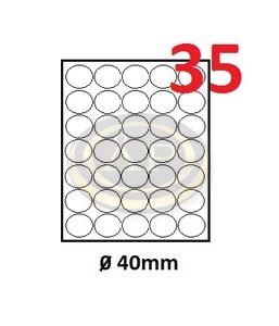 Köretikett 40mm 35 cimke/lap 5 lap