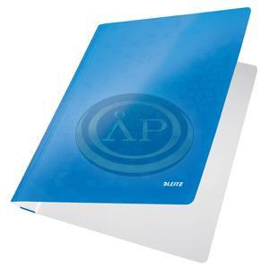 Gyorsfűző, laminált karton, A4, LEITZ Wow kék