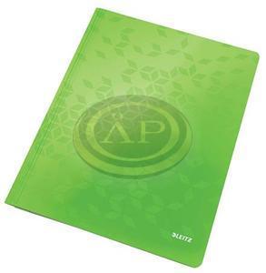 Gyorsfűző, laminált karton, A4, LEITZ Wow zöld