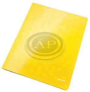 Gyorsfűző, laminált karton, A4, LEITZ Wow sárga