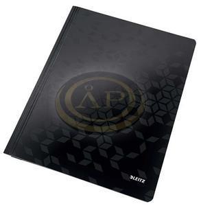Gyorsfűző, laminált karton, A4, LEITZ Wow fekete