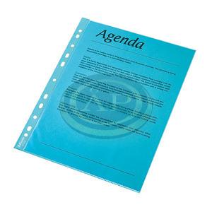 Genotherm lefűzhető Esselte A4 víztiszta kék 10db/csomag 47205