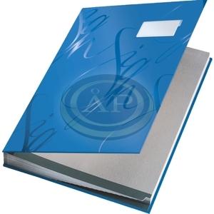 Aláírókönyv Leitz A4 20 részes kék 621063