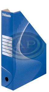 Iratpapucs Esselte 8cm karton színes kék 10025