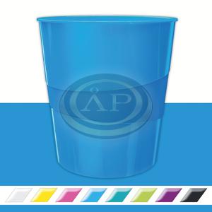 Leitz WOW metálfényű papírkosár, kék 52781036